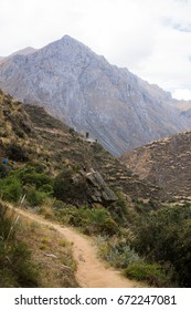 Trekking road leading through the mountains, Huancaya Peru