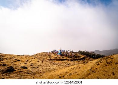 Trekking route enroute Sandakphu, Darjeeling, Weskbengal, India