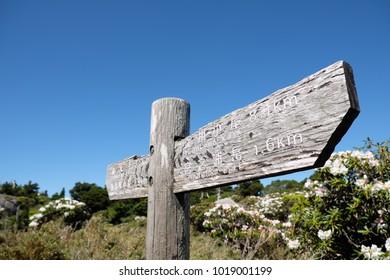 Trekking signpost yakushima