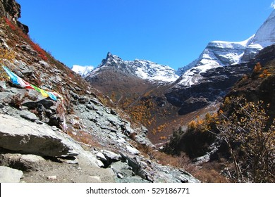 Trekking at Yading Nature Reserve in Daocheng County ,China