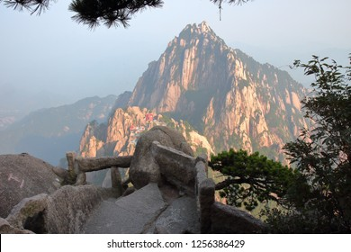 Trembling trail in Huangshan, Huangshan  City, Anhui Province, China.
