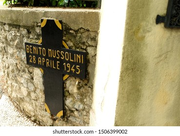 Tremezzina, Como, Lombardy / Italy - August 20 2019: The place where Benito Mussolini was executed.