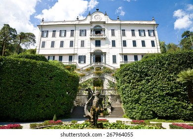 Tremezzo, Italy - 2014, August 17 : The Villa Carlotta, a historic residence and now a museum surrounded by splendid Italian gardens on the Como Lake in Lombardy