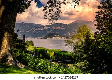 TREMEZZO, ITALY, JUNE 03, 2019 : exteriors of villa Carlotta, on lake Como, june 03, 2019, in Tremezzo, italy