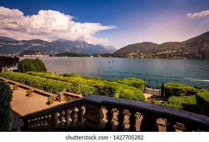 TREMEZZO, ITALY, JUNE 03, 2019 : exteriors of villa Carlotta, on lake Como, june 03, 2019, in Tremezzo, italy