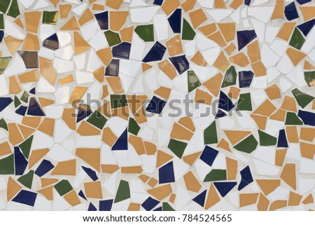 Trencadis trencadis type mosaic used catalan modernism stock photo (edit now