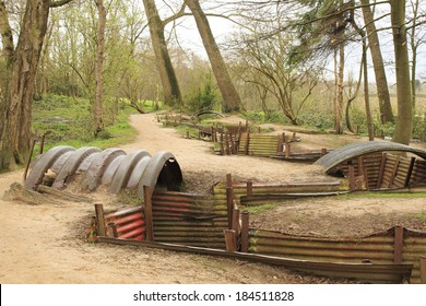 trenches of the First World War battlefield belgium