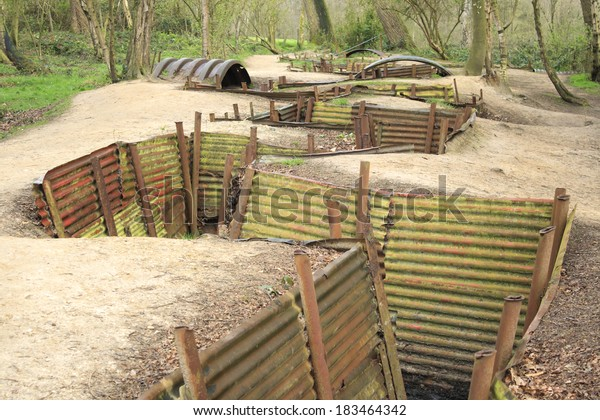 Trenches in Flanders Fields Ypres great world war one Hill 62
