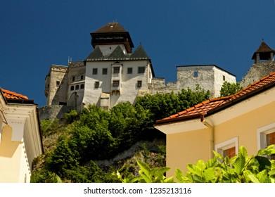 Trencin Castle, Europe-Slovak Republic. Beautiful old architecture