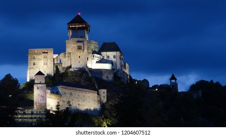 Trencin Castle in the Night