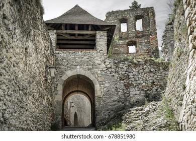 Trencin castle on the hill, Slovakia