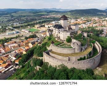 Trencin Castle in Slovakia, Europe