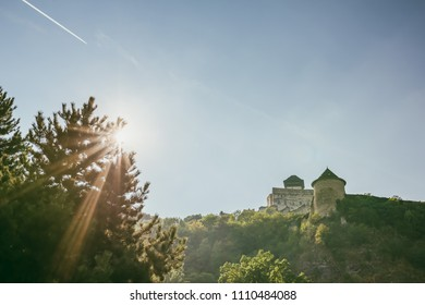 Trencin Castle (Trenciansky Hrad) - on the hill in center of the city Trencin
