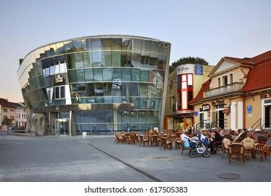 TRENCIN. SLOVAKIA. 19 OCTOBER 2012 : Sturovo Square in Trencin. Slovakia