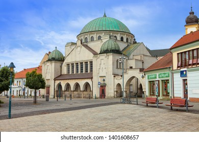 TRENCIN, SLOVAKIA - MAY 18, 2019: The Jewish Synagogue in Trencin. Building is near Sturovo square. Renovated at the end of the 70's and now is a cultural center. Slovak Republic, Central Europe.