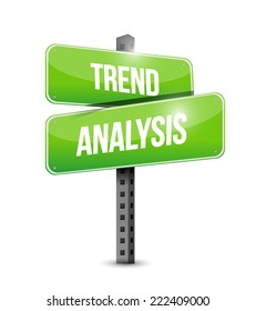 trend analysis sign illustration design over a white background