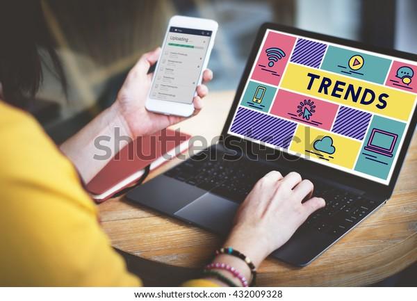 Trends Design erstellen Modedesign-Konzept