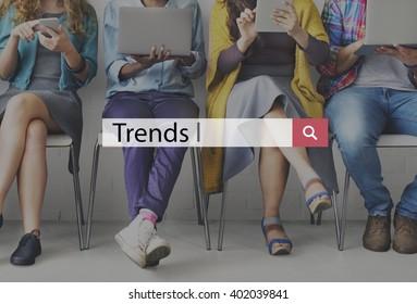 Trends Fashion Forecast Marketing Modern Concept