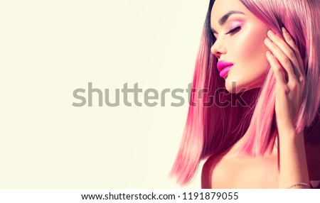 Trendy Fashion Hairstyle Bob Haircut Ombre Stock Photo Edit Now