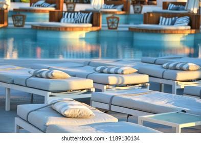 Trendy pool lounge