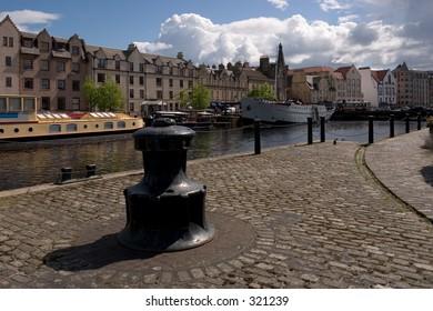 The trendy waterfront area in Leith, Edinburgh, Scotland