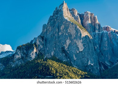 TRENTINO ALTO ADIGE, ITALY -  OCTOBER 22, 2016 -  View of colors of Dolomites in autumn