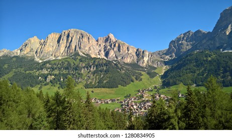 Trentino, Italy - 08/16/2018: An amazing caption of the dolomites from Trento Italy in summer days with some people enjoying the day