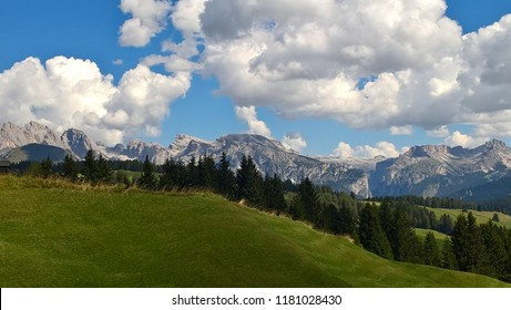 Trento, Italy - 09/12/2018: An amazing caption of the mountains in Trentino, with a great views to the dolomites of Brenta in summer days