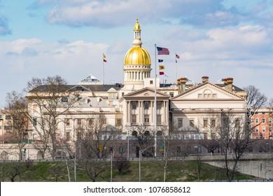 TRENTON, NJ - APRIL 5, 2018:New Jersey state capitol building in Trenton