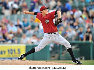 TRENTON, NJ - AUGUST 21: Altoona Curve starting pitcher Jameson Taillon, a Pirates top prospect, throws a pitch during an Eastern League baseball game August 21, 2012 in Trenton, NJ.