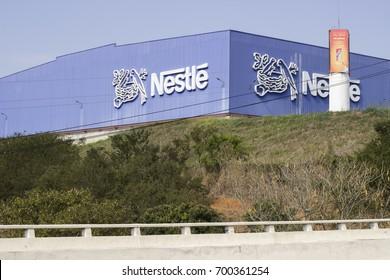 TRES RIOS, RJ/BRAZIL - AUGUST 14, 2017: Nestle factory.