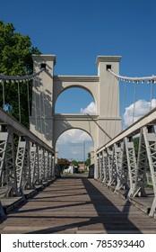 Trestle bridge over the Brazos river in Waco, TX