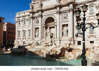 Trevi Fountain detailed close up