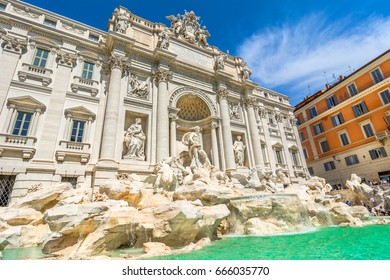 The Trevi Fountain ,Fontana di Trevi, is a fountain in the Trevi region, Rome, Italy. Standing 25.9 meters high and 19.8 meters wide, it is the largest Baroque fountain in the city.