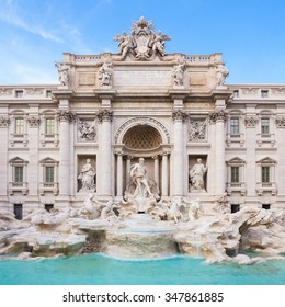 Trevi Fountain, largest Baroque fountain in the city and one of the most famous fountains in the world located in Rome, Italy.