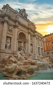 Trevi Fountain, the largest in Rome