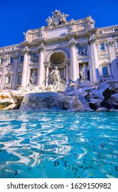 The Trevi Fountain located in the Trevi district of Rome, Italy,
