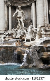 Trevi Fountain - The Most Ambitious Of The Baroque Fountains Of Rome, Italy