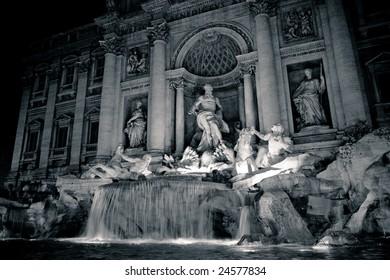 Trevi Fountain at Night