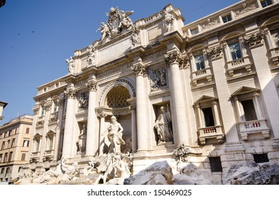 Trevi Fountain in Rome - Italy. (Fontana di Trevi) is one of the most famous landmark in Rome