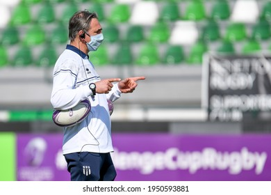 Treviso, Italy, April 03, 2021, Regis Sonnes (Head Coach Agen Rugby) during Rugby Challenge Cup Benetton Treviso vs SUA LG Agen