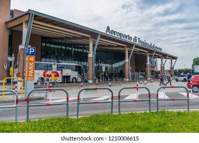 Treviso, Italy - JUNE 19, 2018: International Airport Treviso A. Canova (TSF)