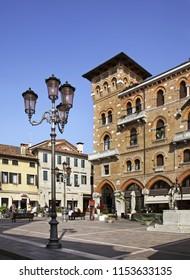 TREVISO. VENETO REGION. ITALY. 03 MAY 2012 : San Vito square in Treviso. Veneto region. Italy