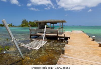 Trhee Island Dock, North Eleuthera Island, Bahamas.
