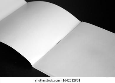 Tri fold White Brochure Mockup