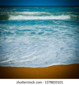 Trial Harbour Beach on Tasmania's South West coast. Gentle waves on sandy beach.