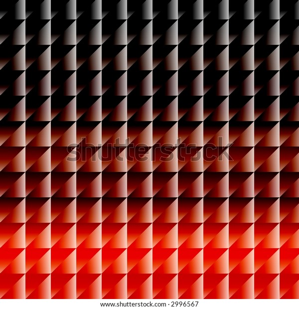 triangle background, resembling the design of the seventies/eighties