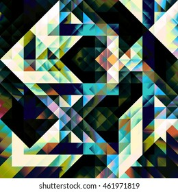 Triangle Grid Pattern Chromatic Geometry Composition