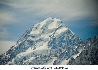 Triangle Mountain Peak, Mount Cook. New Zealand