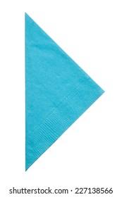 Triangle napkin isolated on white background, close up